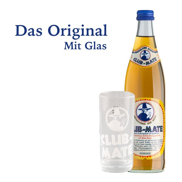 Club-Mate Original + Originalglas